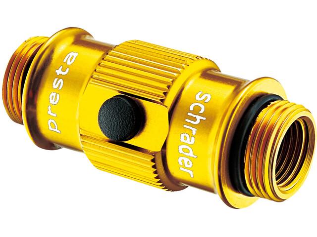 Lezyne ABS Flip-Thread Chuck HP do pompek podłogowych Swivel/Micro złoty